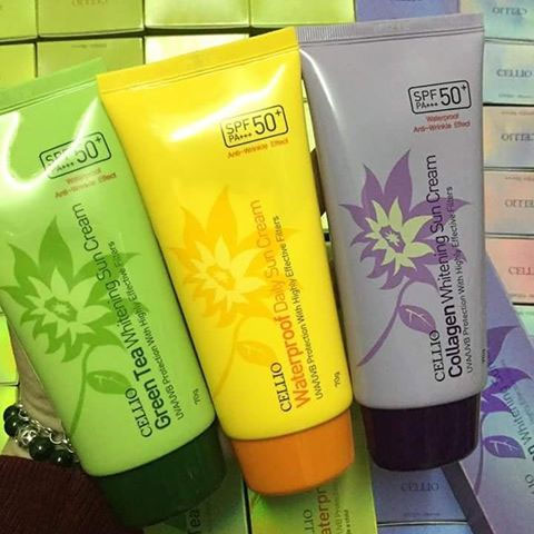Kem Chống Nắng Cellio SPF 50PA+