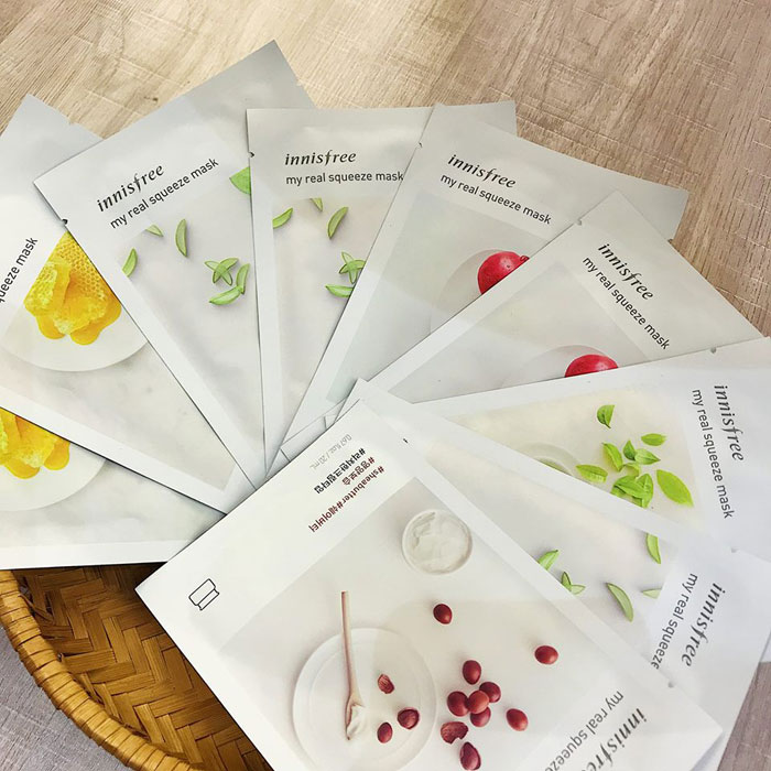 Mặt nạ miếng giấy Innisfree Its real squeeze mask